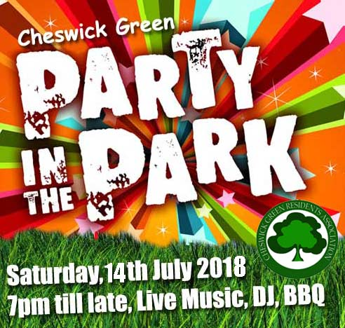 Party in the Park 2018 is on Saturday 14th July